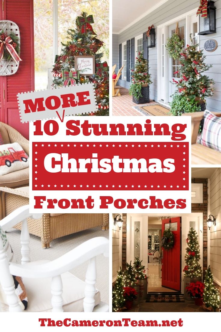 10 More Stunning Christmas Front Porches