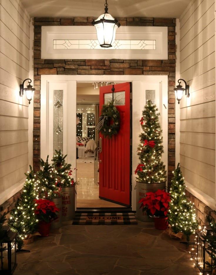 Buffalo Check Christmas Front Porch - The Design Twins