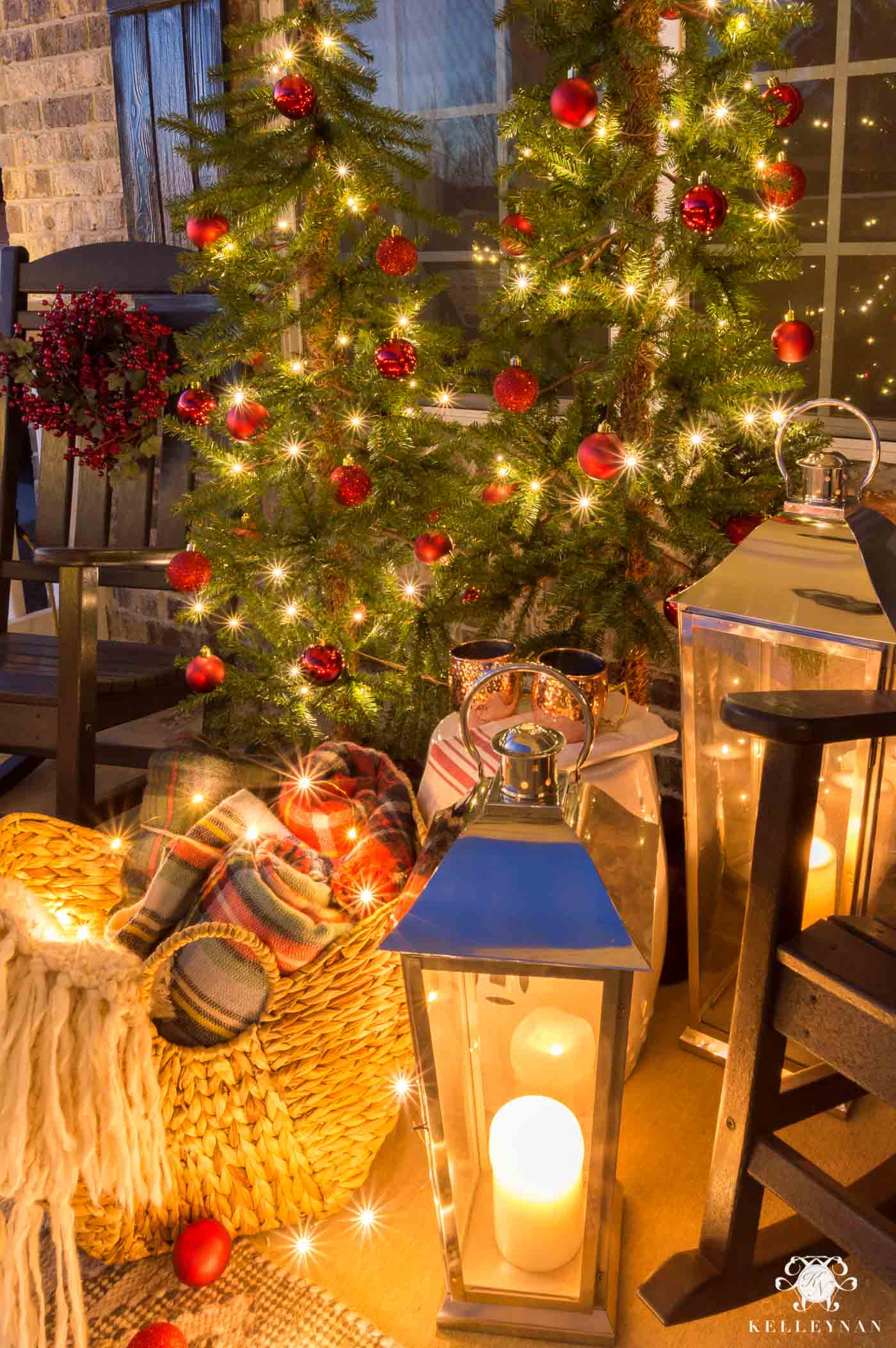 Cozy Christmas Front Porch - Kelley Nan