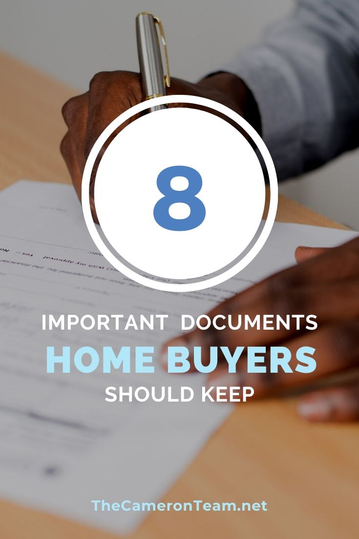 8 Important Documents Home Buyers Should Keep