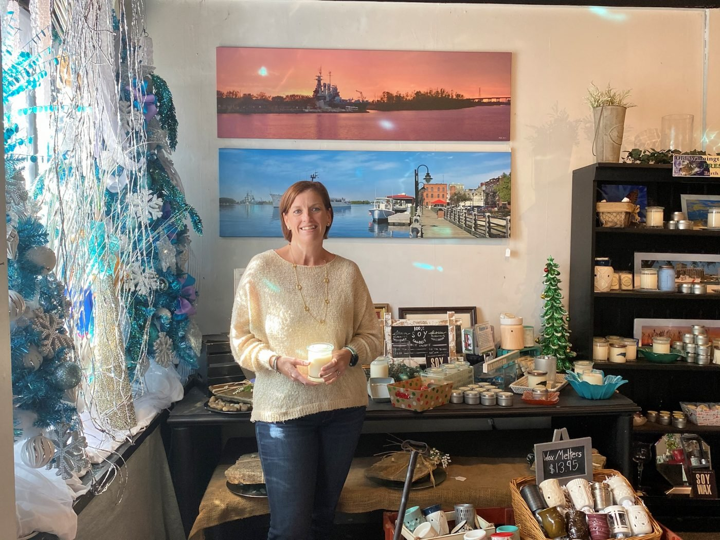 Melanie Cameron at Old Wilmington Candle Company