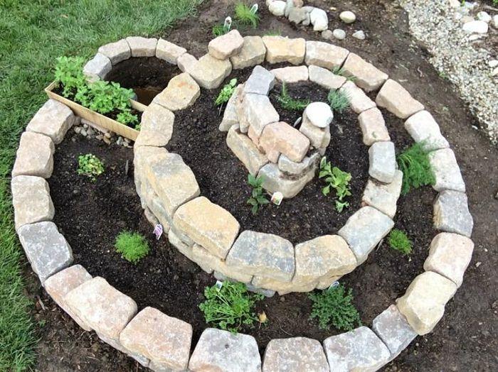 Balcony Garden Web - Spiral Herb Garden