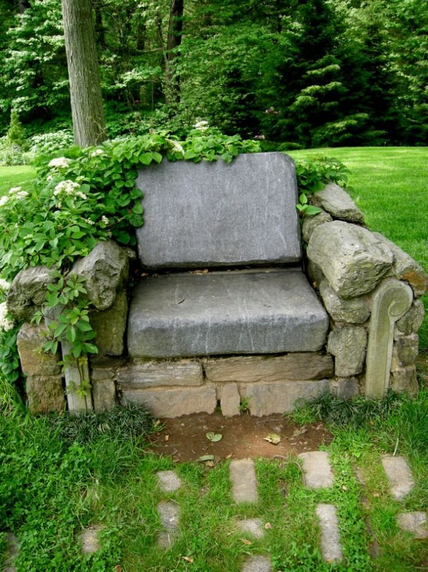 Carolyns Shade Gardens - Stone Chair