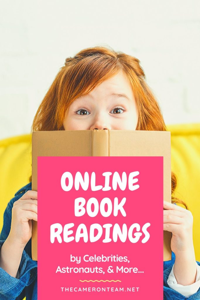 Online Book Readings by Celebrities, Astronauts, Authors, and More