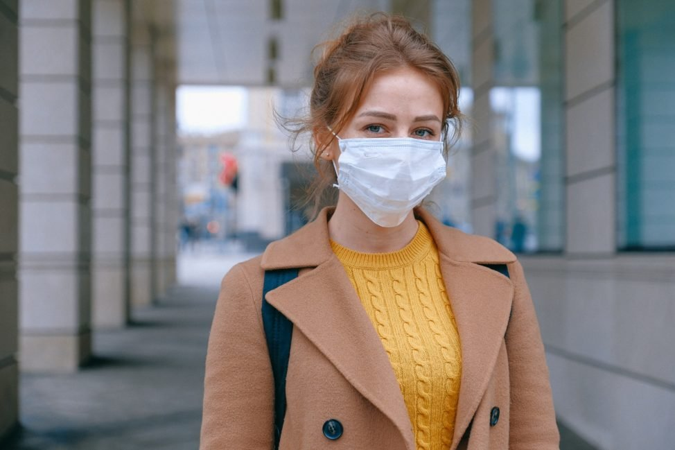Woman Wearing Face Mask - COVID-19 Pandemic