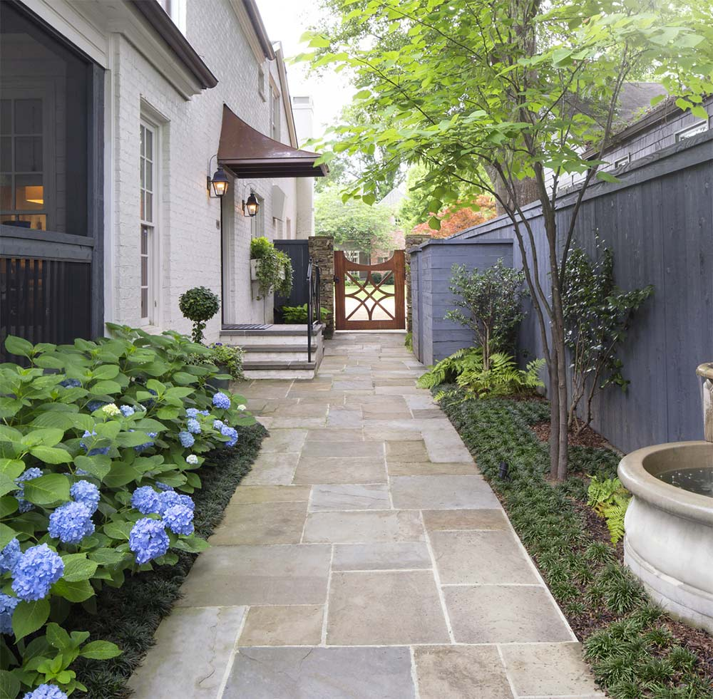TMD Landscape Designs - Side Yard Walkway and Garden