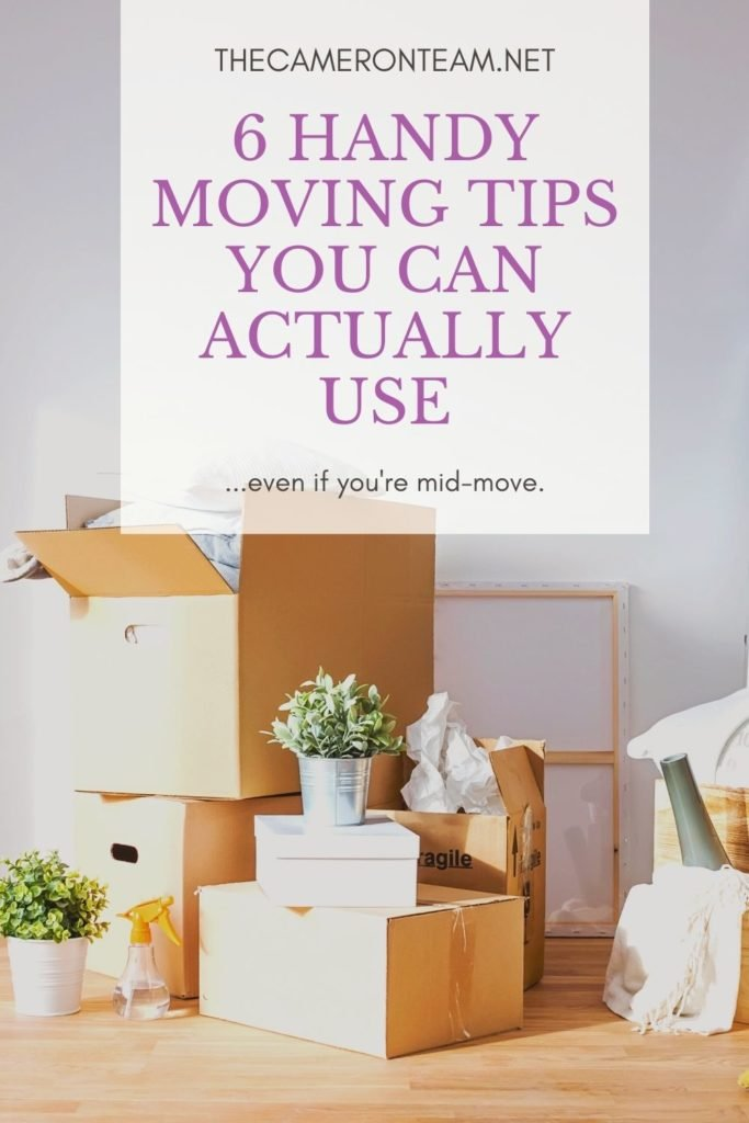 6 Handy Moving Tips You Can Actually Use Even if You Are Mid-Move