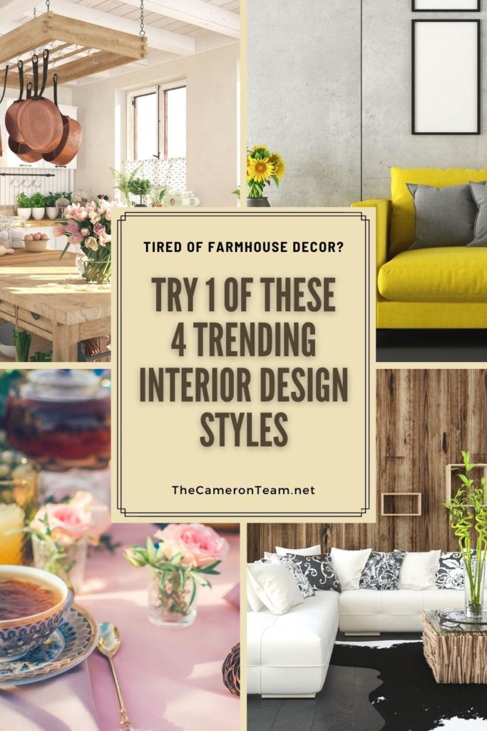 Tired of Farmhouse Decor? Try 1 of These 4 Trending Interior Design Styles