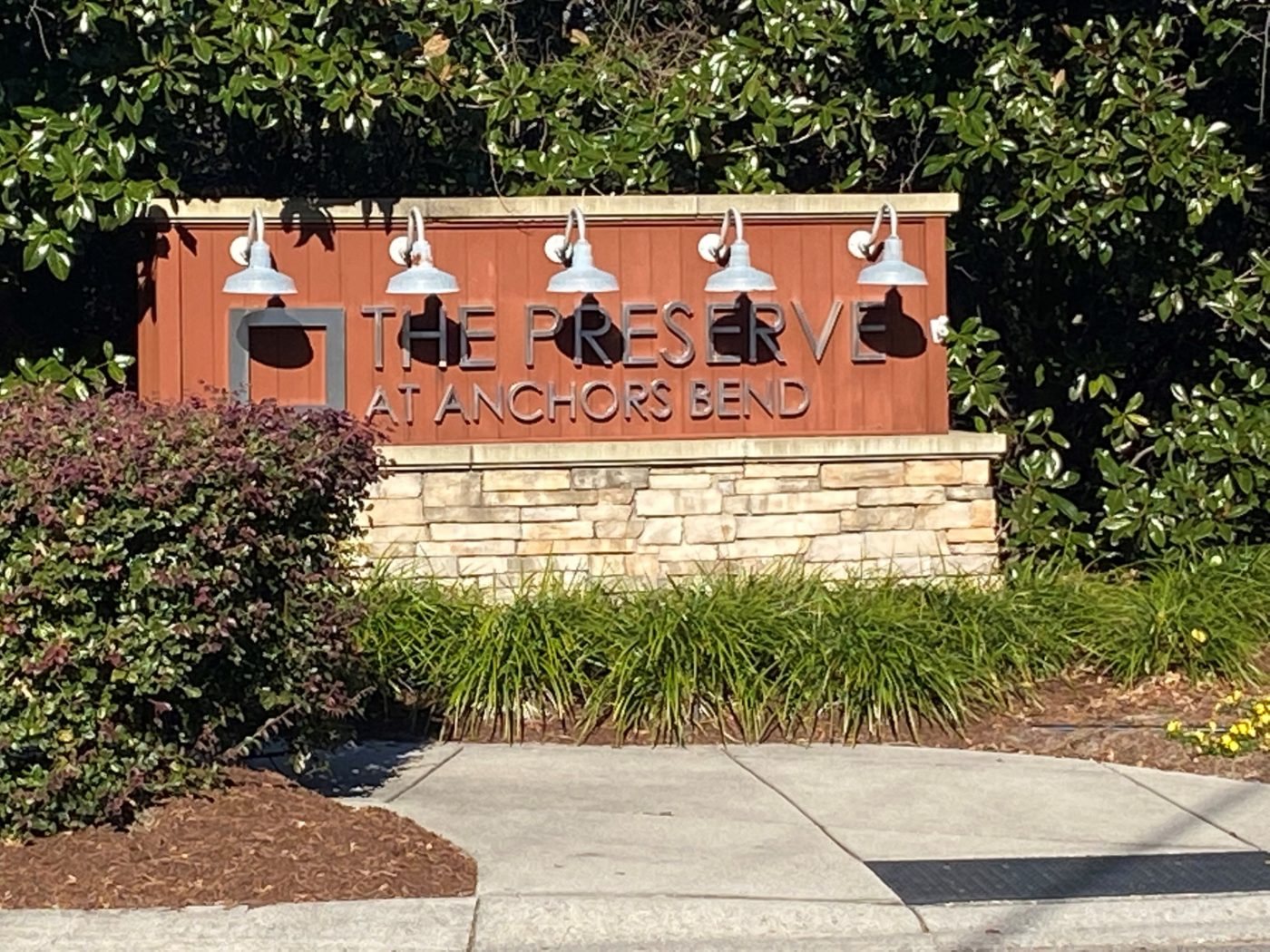Anchors Bend - Entrance Sign