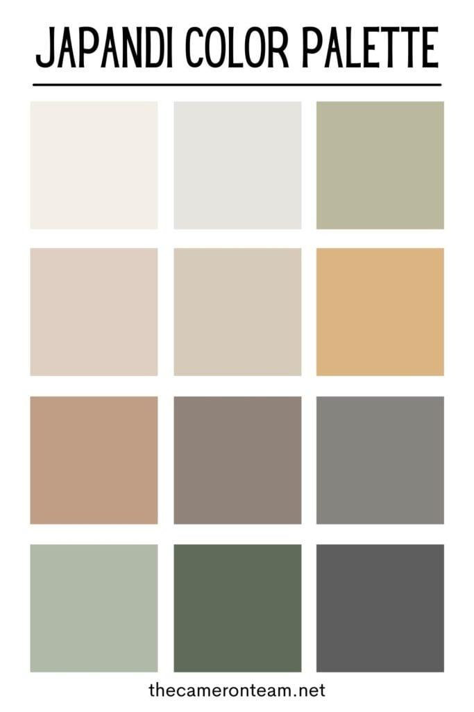Japandi Color Palette