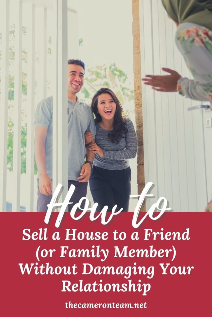 How to Sell a House to a Friend (or Family Member) Without Damaging Your Relationship - A couple entering a home owned by friends