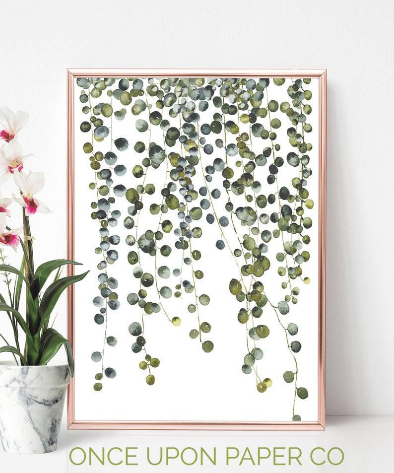 Botanical Hanging Plant Digital Print - Once Upon Paper Co
