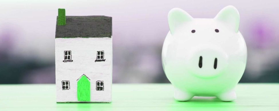 house and piggy bank