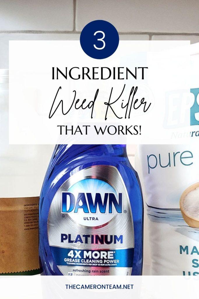 3-Ingredient Weed Killer That Works