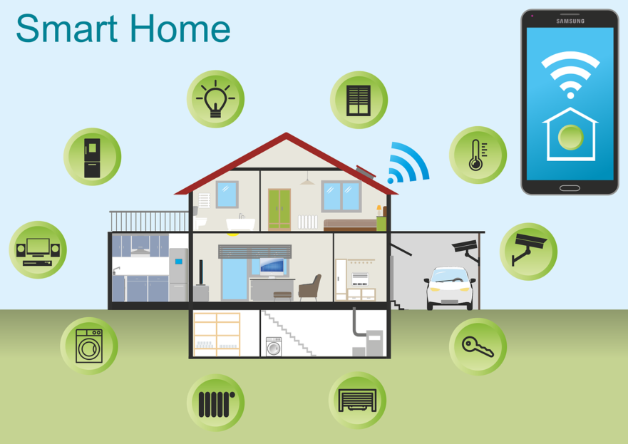 Floor plan of smart home technology