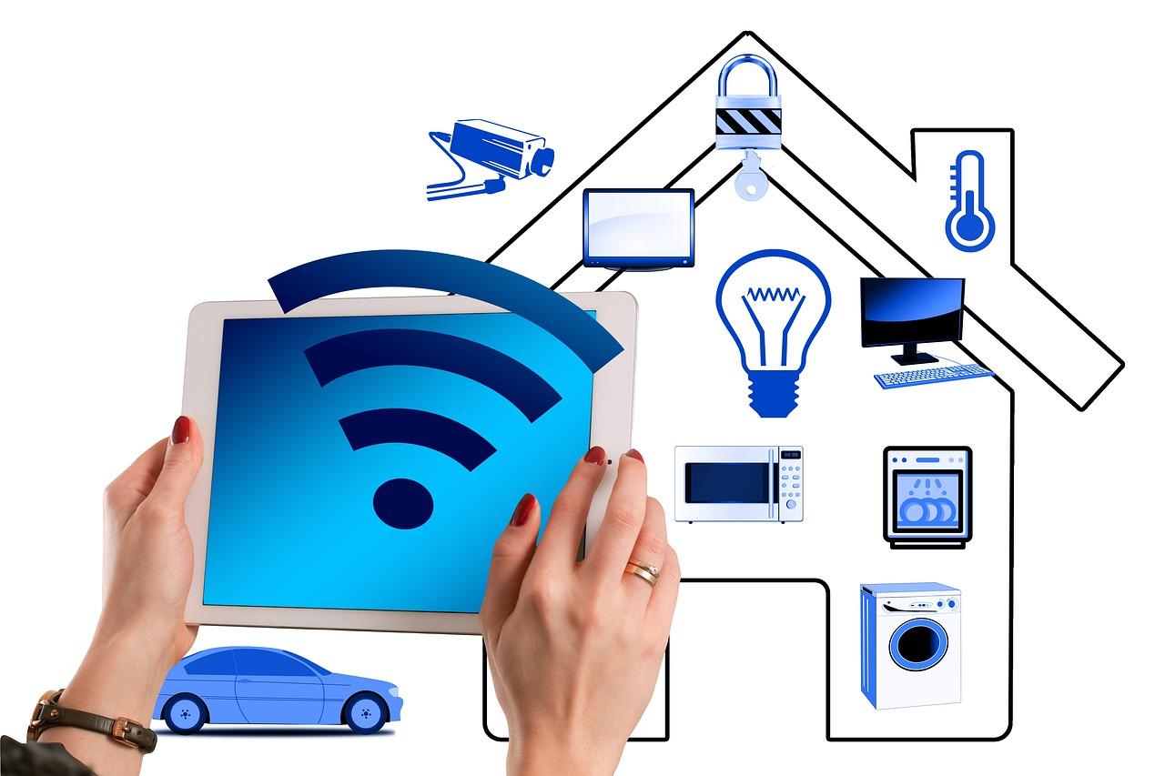 smart home graphics of smart technology