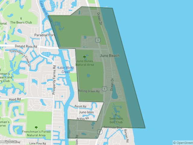 Juno Beach Neighborhoods