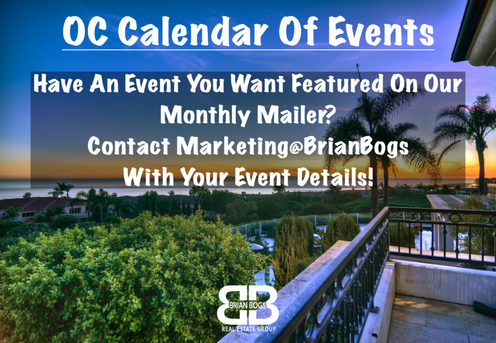 Oc Calendar 2019 OC Calendar Of Events | April 2019   Brian Bogs