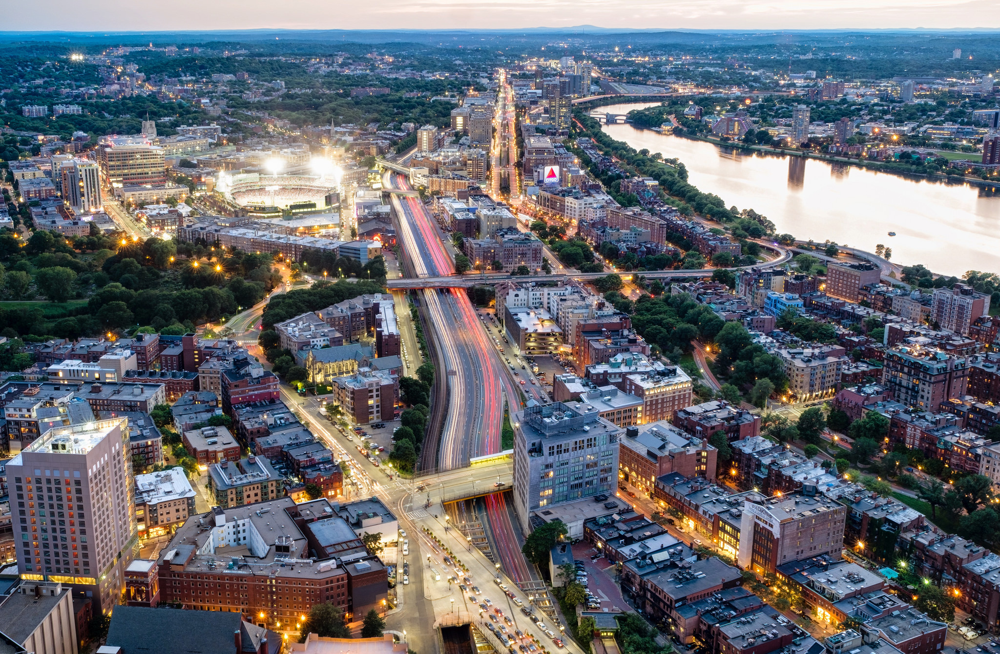 Fenway neighborhood aerial view