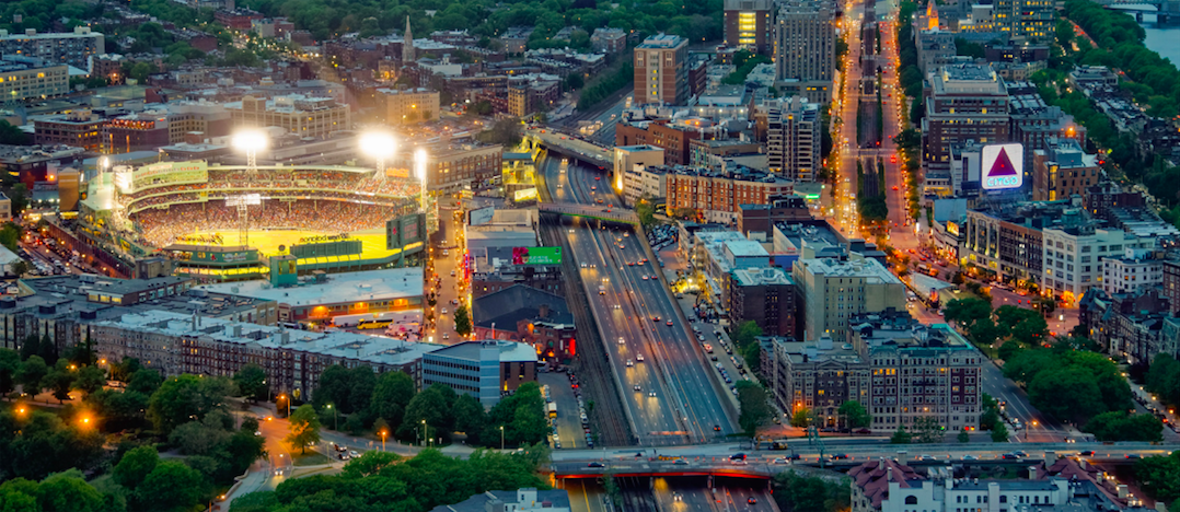 Fenway aerial view