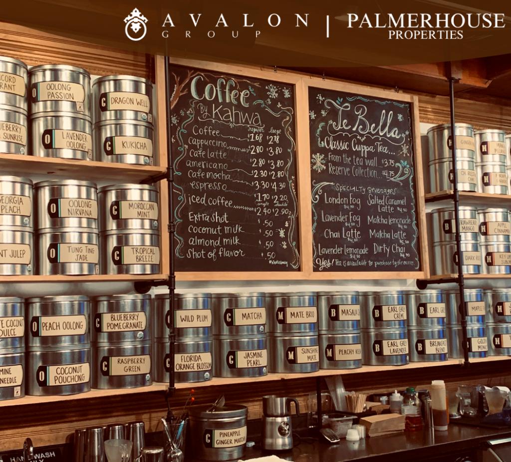 Fine teas line the shelves at TeBella, St. Petersburg, FL