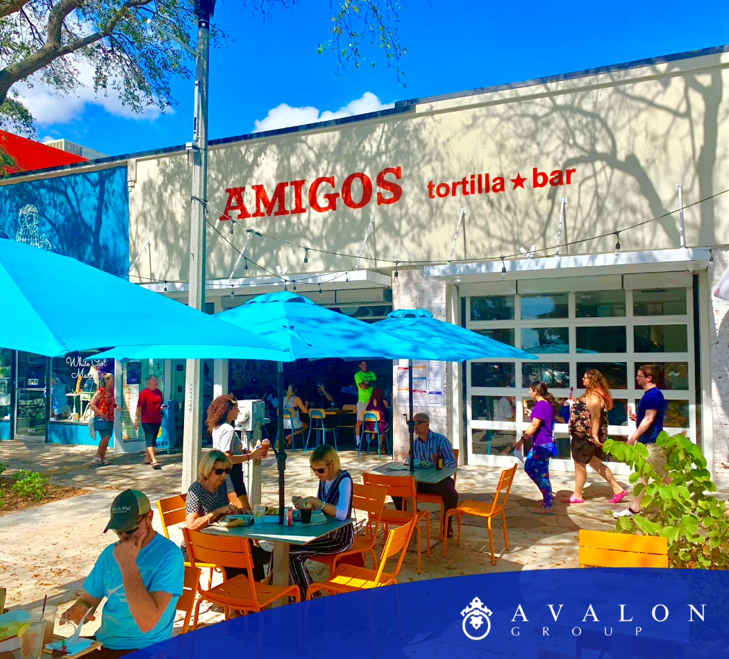 When walking up to Amigos, the happy design lifts your mood.