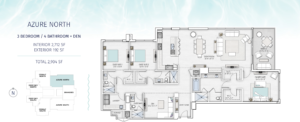 Saltaire Azure North Floor Plan The floorplan is black and white with an aqua border