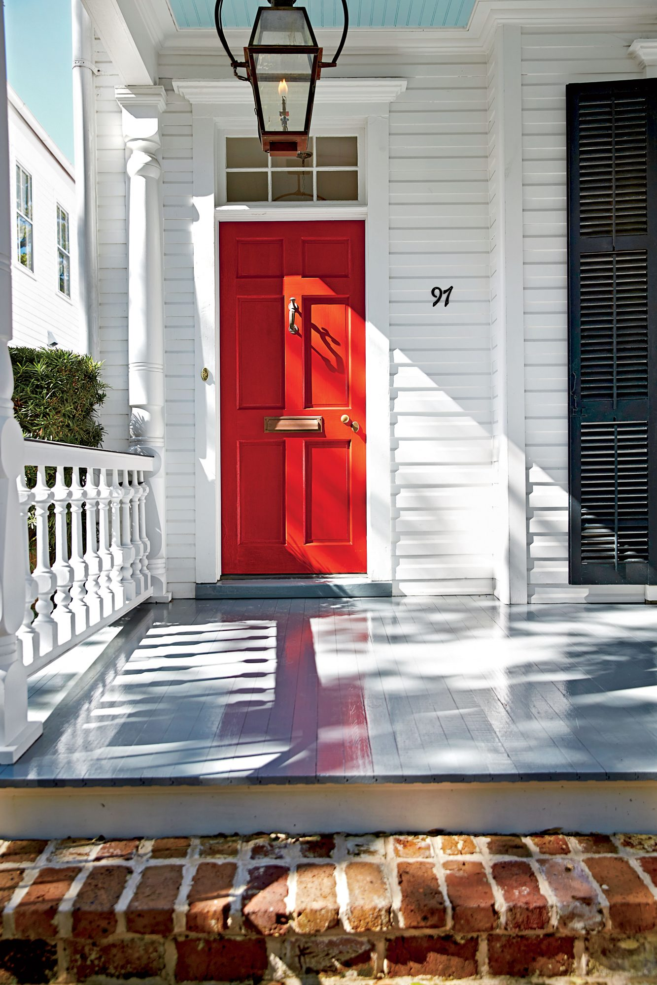 Another color in our top 10 is#5 Real Red (SW6868); Sherwin Williams. It is a brighter red that creates Florida Happy Vibes.