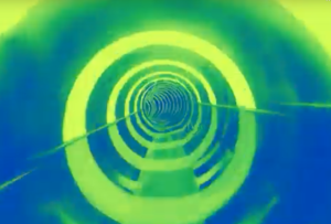 Solar Vortex Green Disco Tube will be a wild ride. The sun beams down on the water tube and creates beautiful light effects.