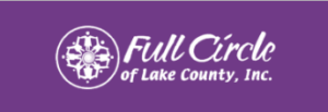 "Purple logo with text ""Full Circle of Lake County, Inc."""