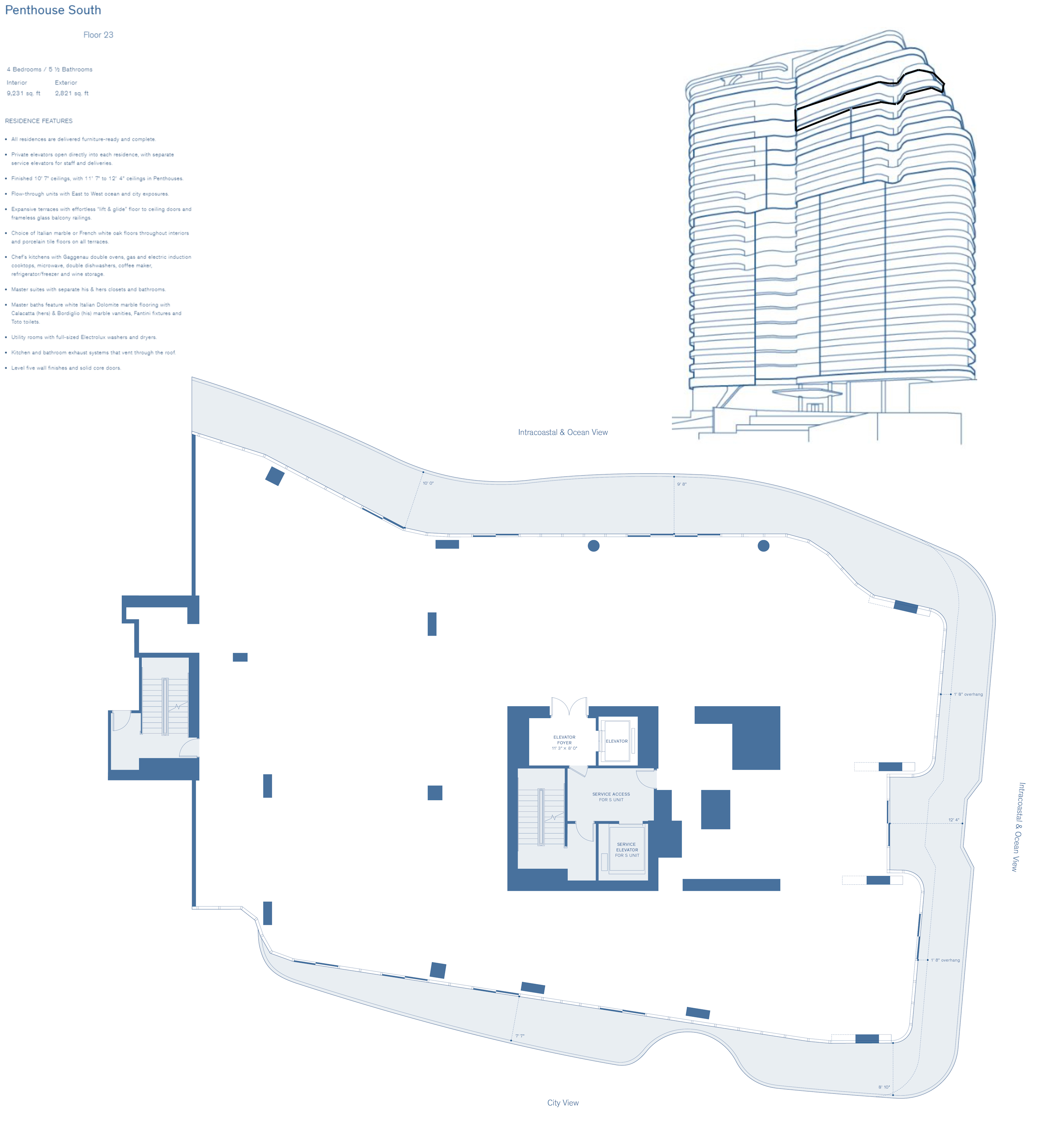 Penthouse South Fl 23